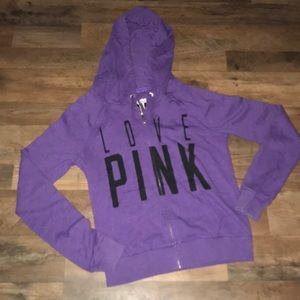 VS PINK zip up hoodie small